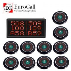 EuroCall éttermi asztali pincérhívó rendszer fali kijelzővel