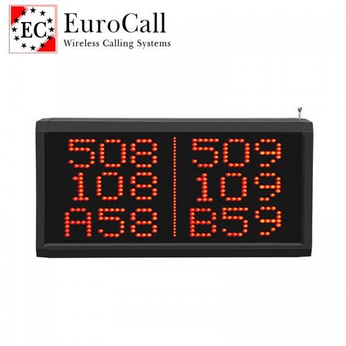 EuroCall EC-CR28A közepes méretű, falra szerelhető, pontmátrix kijelző