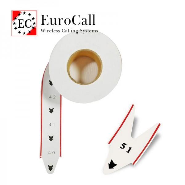 EuroCall EC-T sorszám címketekercs - sorszám adagolóhoz