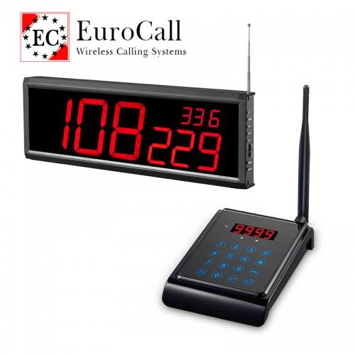 EuroCall sorszám szerinti vezeték nélküli hívórendszer - érintőgombos billentyűzettel