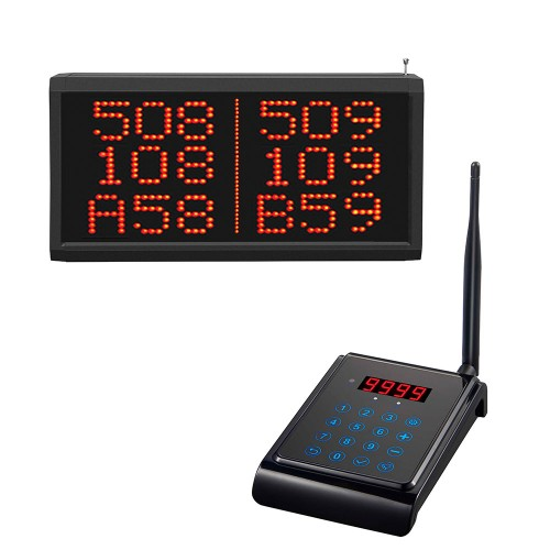 EuroCall sorszámhívó billentyűzet LED kijelzővel (CK02 + CR28A)