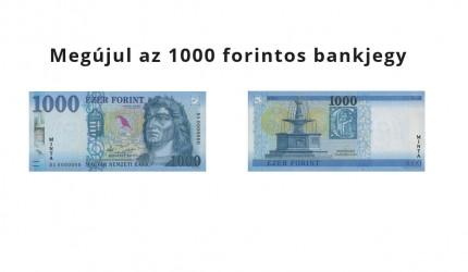 Érkeznek az új 1000 forintos címletű bankjegyek