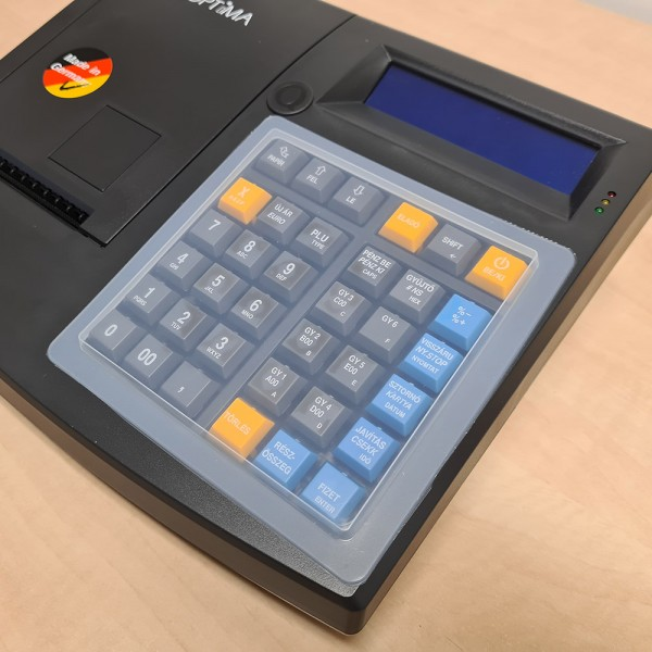 OPTIMA QMP50 Online pénztárgép szilikon billentyűzet védő fólia