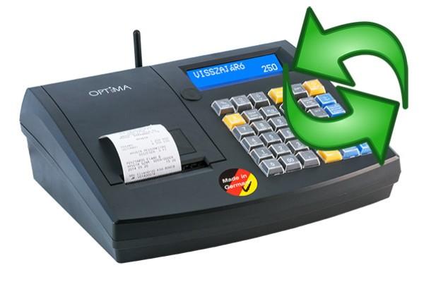 Szoftver frissítés az OPTIMA pénztárgépeken