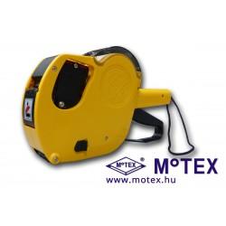 MoTEX MX-2616NEW kétsoros árazógép, 2 x 10 karakter, Ft jel, mértékegység, méretjelzés, tájékoztató szöveg nyomtatással (26x16mm)