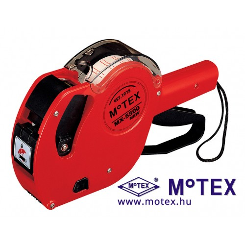 MoTEX MX-5500NEW EREDETI egysoros árazógép 7 karakter, Ft jel nyomtatással (22x12mm)