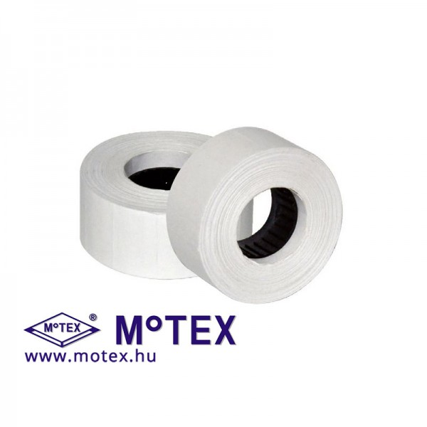 MoTEX árazócímke 23x16mm, szögletes, MX-2316NEW kétsoros árazógéphez