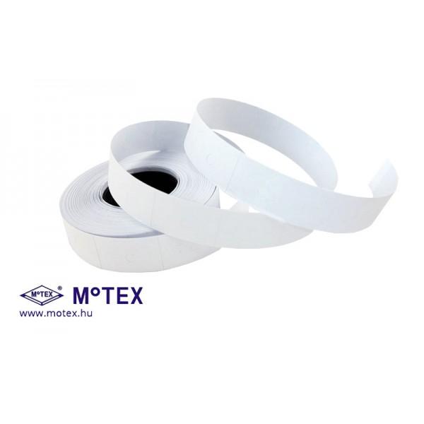MoTEX árazócímke 16x23mm, szögletes, MX-6600LPlus kétsoros árazógéphez + Ajándék festékhenger