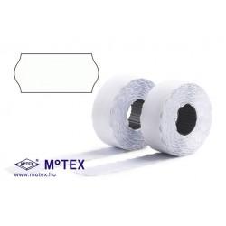 MoTEX árazócímke 26x12mm, lekerekített, MX-2612 NEW egysoros árazógéphez + AJÁNDÉK festékhenger