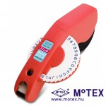 MoTEX E-404 dombornyomott címke készítő, feliratozó gép