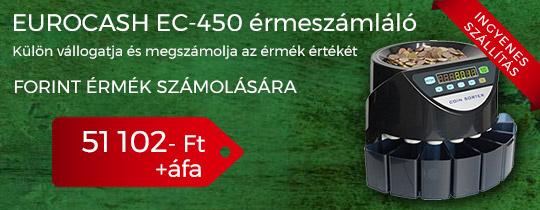 EuroCash EC-450 érmeszámláló