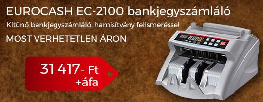 Eurocash EC-2100 bankjegyszámláló gép