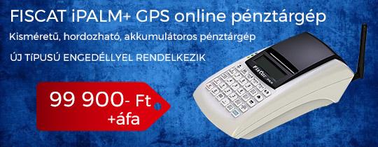 Fiscat iPalm+ GPS online pénztárgép