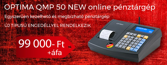 Optima QMP 50 Online Pénztárgép