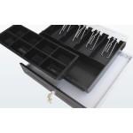 EuroCash C3540 közepes pénztárgép fiók, pénztárgép kassza - fekete