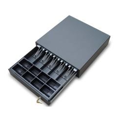 EuroCash C4141D nagyméretű kasszafiók pénztárgéphez, POS rendszerhez - fekete