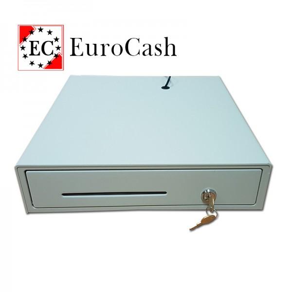 EuroCash E3336D közepes méretű pénztárgép fiók, pénztárgép kassza - fehér
