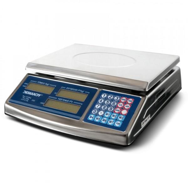 ACS-768 hitelesített bolti mérleg, fém burkolat, 15kg, jól látható LCD kijelző