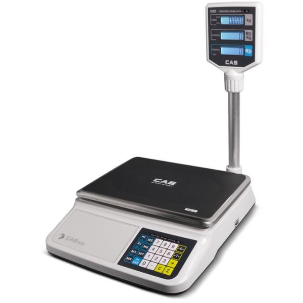 CAS PR-II tornyos asztali mérleg 15 kg hitelesített