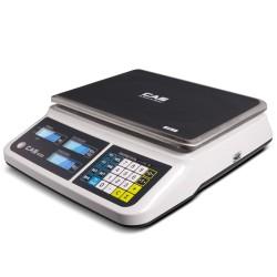 CAS PR-II lapos asztali mérleg 15 kg hitelesített
