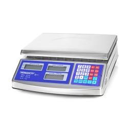 ACS-768 ellenőrző bolti mérleg, fém burkolat, 40kg, jól látható LCD kijelző