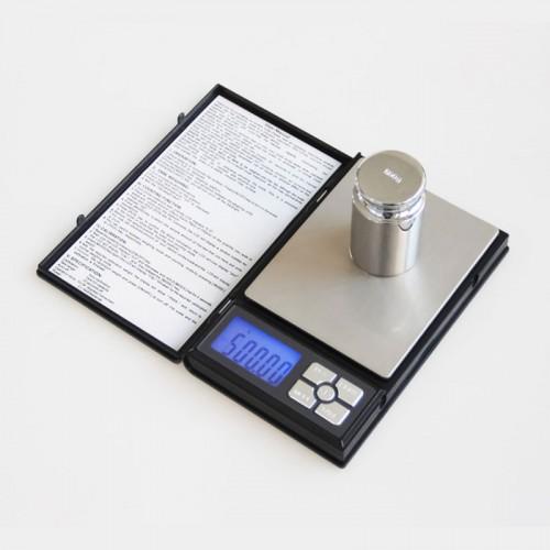Hordozható zsebmérleg, ékszermérleg, labormérleg - 500g méréshatárral
