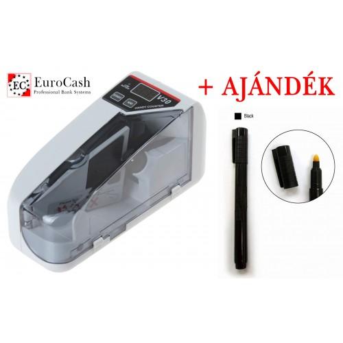 EuroCash V30 hordozható, kézi bankjegyszámláló, pénzszámoló gép
