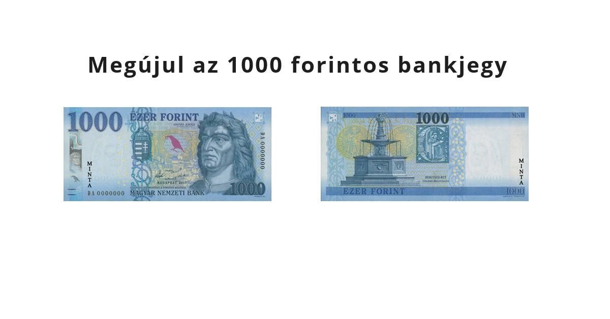 Itt az új 1000 forintos bankjegy